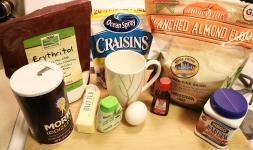 Orange-Cranberry Mug Cake Ingredients